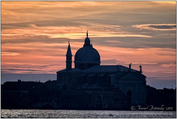 Sunset over Basilica di Santa Maria della Salute by TrevBatWCC