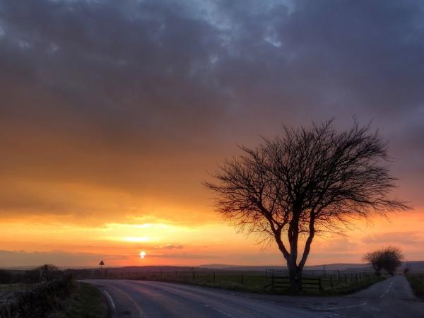 Sunset over Eastmoor by ianmoorcroft