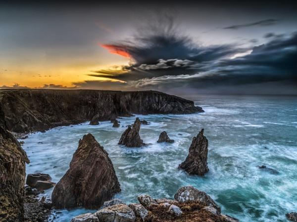 Mangesta Stacks Sunset by Pete2453