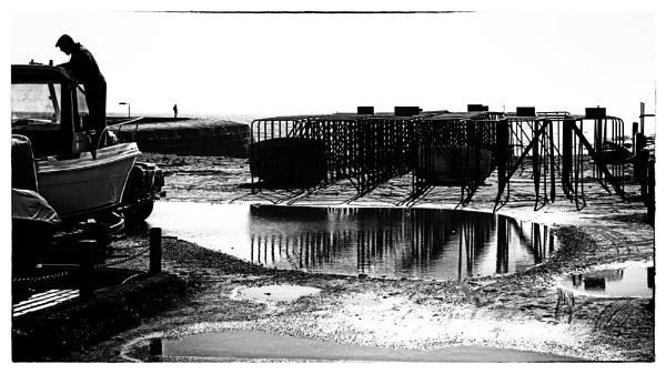 Boatyard by Cobb, Lyme Regis by starckimages