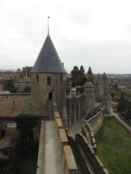 Carcassonne castle walls by Alan26