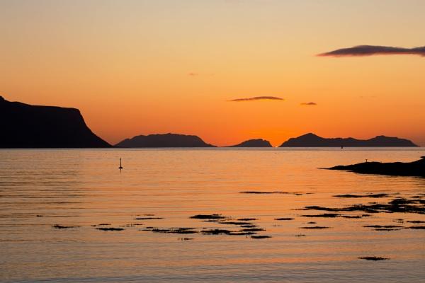 Sunset outside Aalesund by Saastad