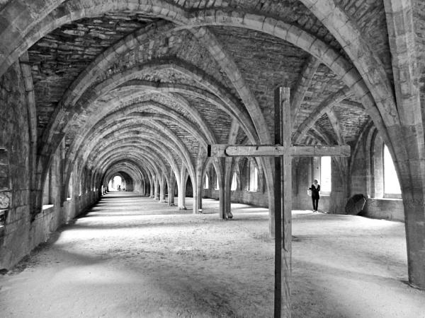 Undercroft At Fountains Abbey. by Debmercury