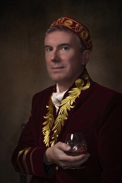 Self portrait - enjoying a Cognac by charlesym