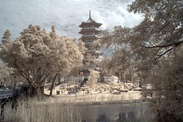 The Ru Yun T\'a (7-storey pagoda), Chinese Garden, Singapore by wilwahabri