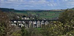 Calstock Viaduct crossing the Tamar at Calstock