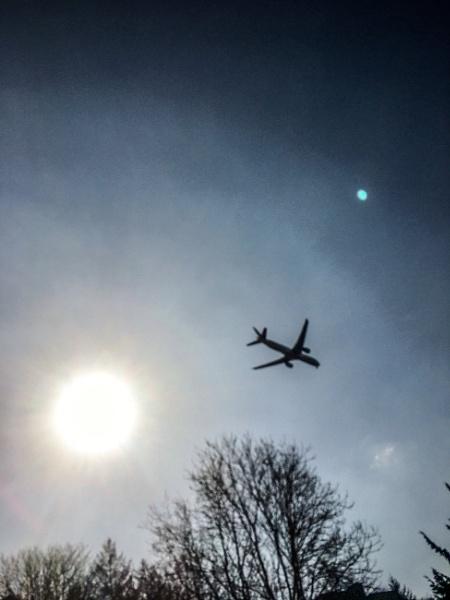 Plane to Edinburgh Airport. by Pinarellopete