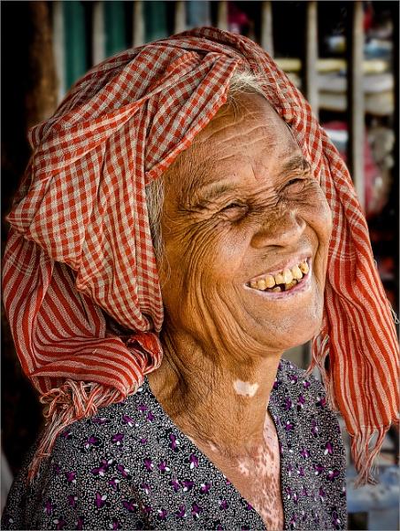 Happy Khmer Lady