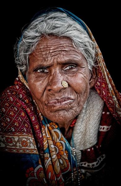 Tribal woman of Rajasthan by sawsengee