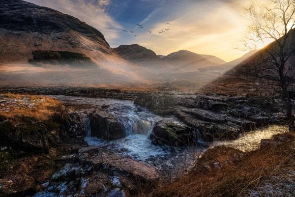 Sunset in the Glen by douglasR