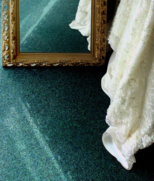 The wedding dress in the mirror by helenlinda