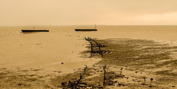 Sunken Barges by bluetitblue