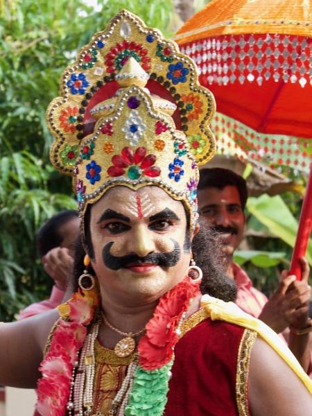 Crazy Kathakali .. Tamil Nadu, India by chrisdunham