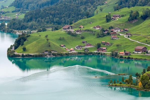 View of Brienz in the Bernese Oberland Region of Switzerland by Phil_Bird