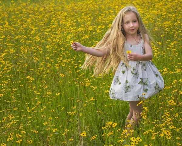 Gianna with wildflowers by jbsaladino