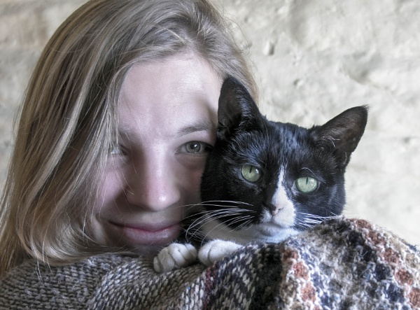 Me and my cat by HelenaJ
