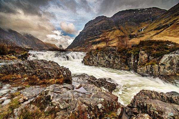 Clachaig Falls by DTM