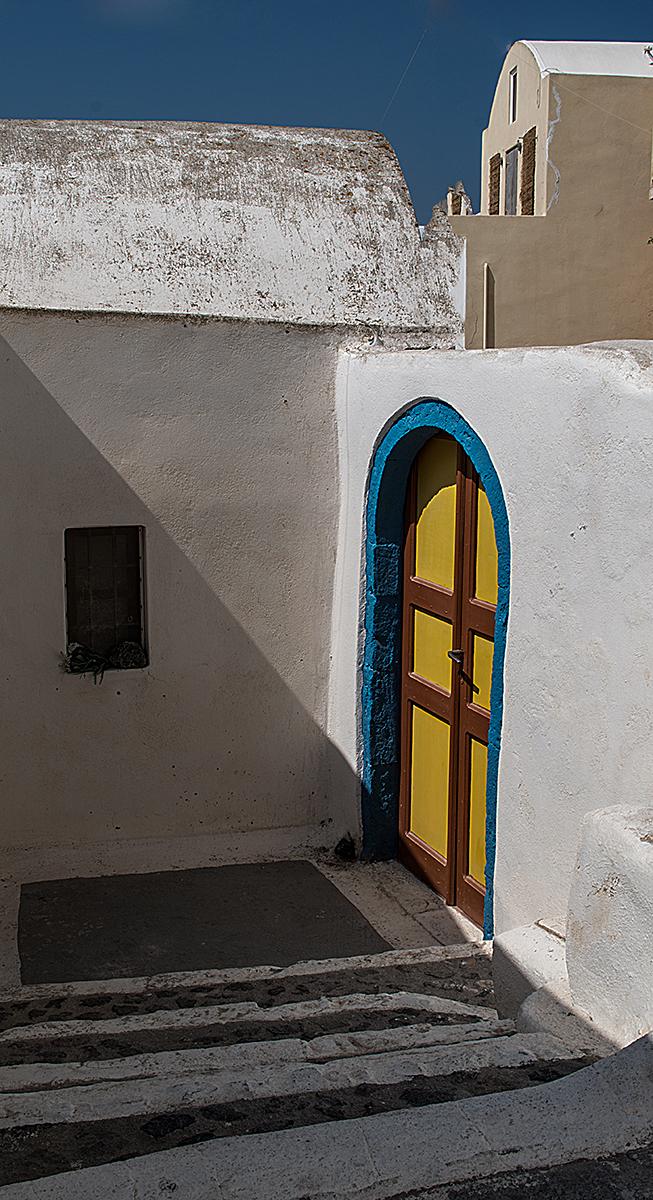 A colourful entrance