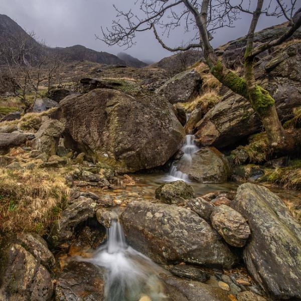 Stream Nant Peris, Snowdonia by Brenty