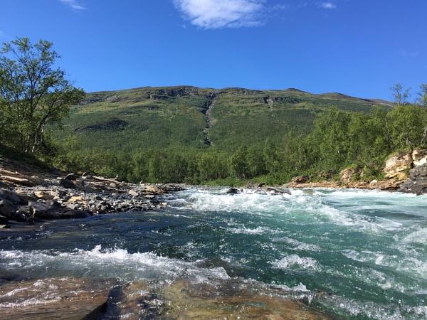 Abiskojåkka river by Arvorphoto