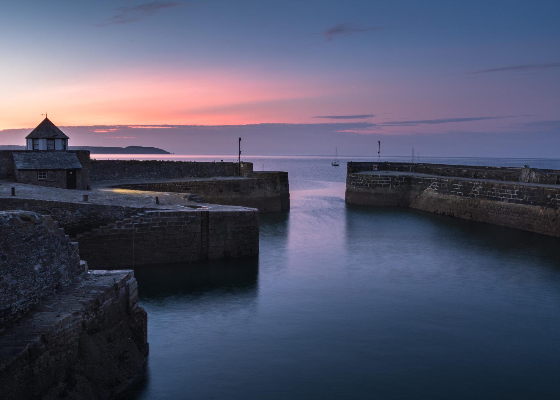 Sunrise at Charlestown, Cornwall