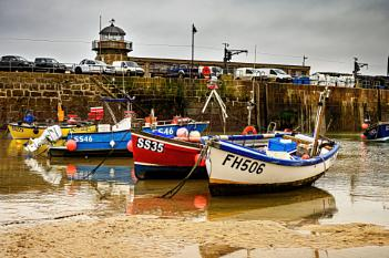 Fishing Boats at Low Tide