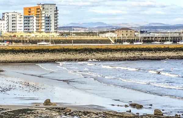 Sea swimming at Granton in March! by Pinarellopete