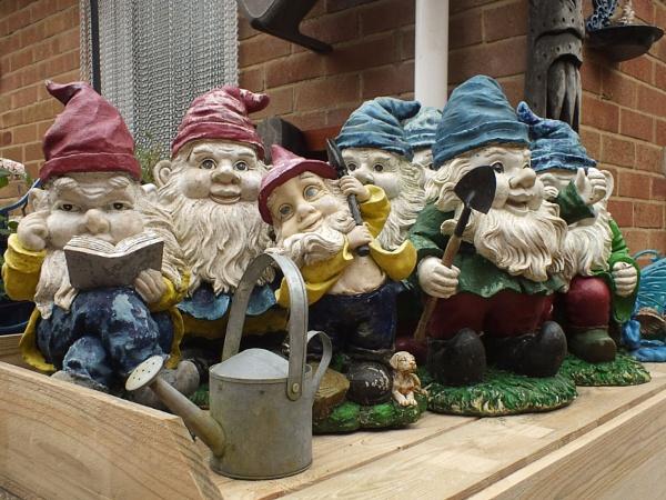 Queueing Gnomes by pamelajean