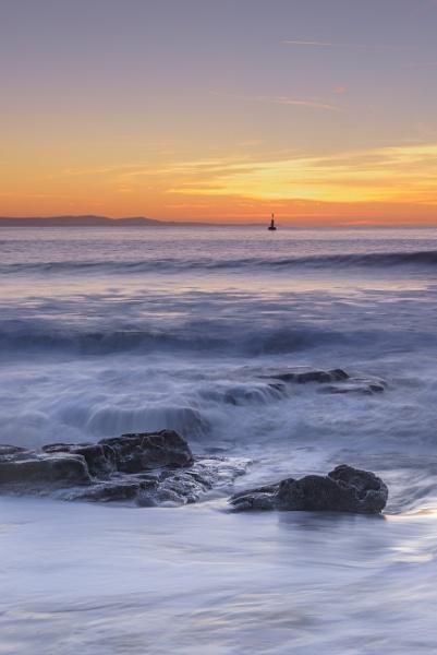 Sunset over rocks