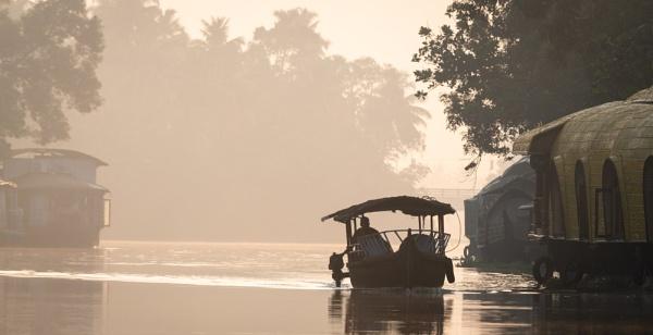Sunrise on the Kerala Backwaters by jasonrwl