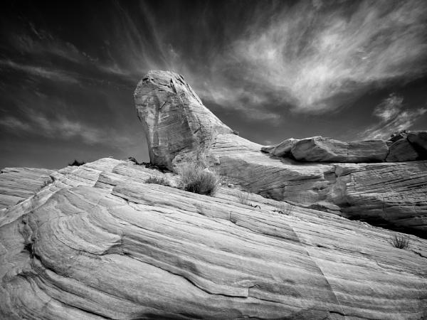 Rock and sky by mlseawell