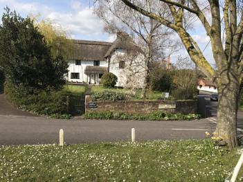 Cottage in the spring sunshine uk