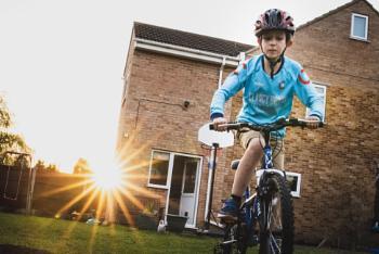 Back garden biking