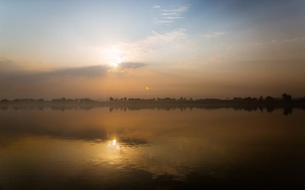 Sunrise on Nile near to Edfu by rninov