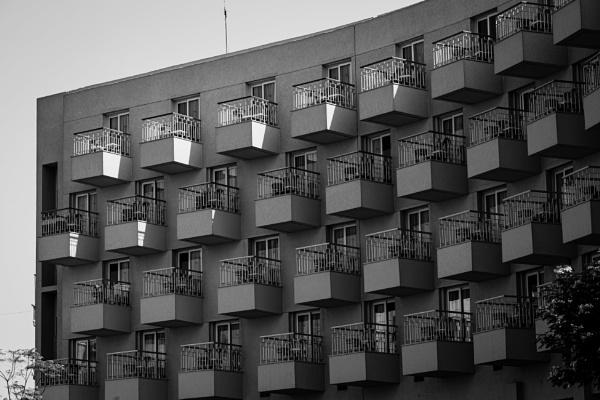 View to balcony in city of Karnak by rninov