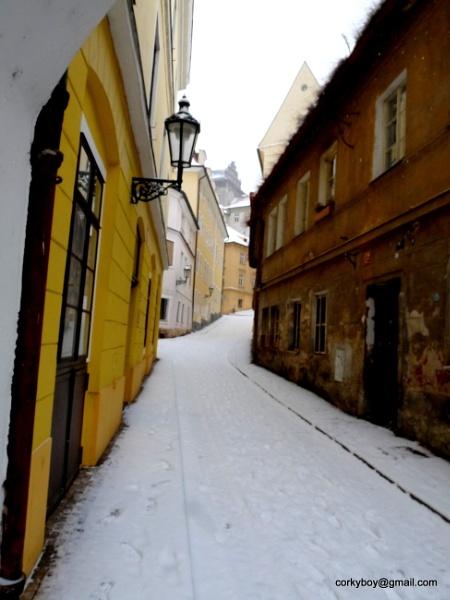 A snowy day in Prague. by rustyshackleford