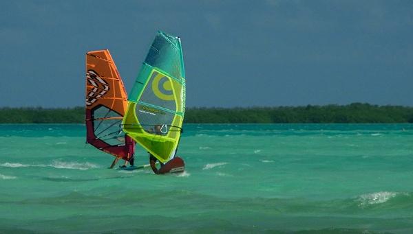 Windsurfing Bonaire by ivalyn