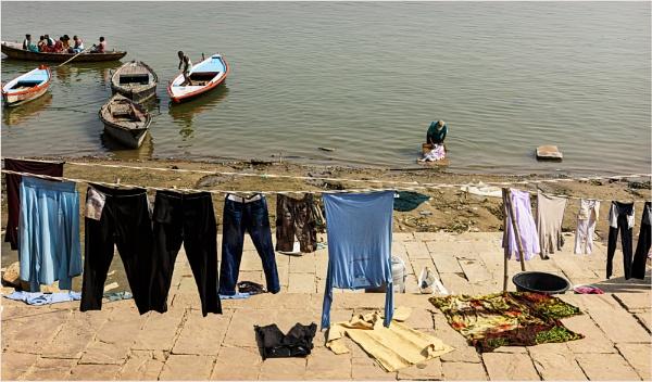Washday in Varanasi by PhilScot