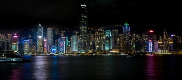 City at night.....Hong Kong by Skyerocket