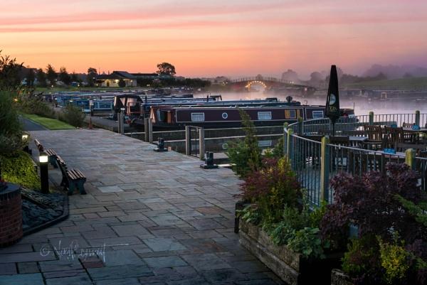 Misty Dawn Over Aston Marina by NoelBennettPhotography