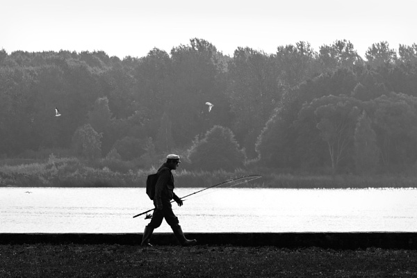 Man with a fishing rod 2 by grulis