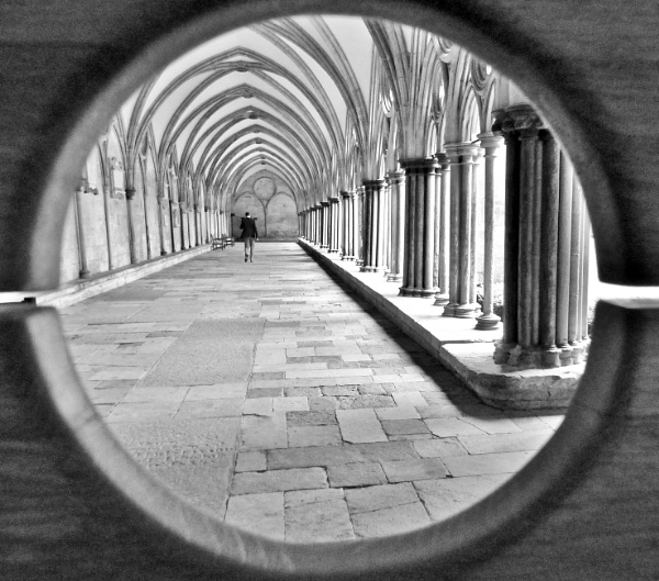 In The Cloisters At Salisbury Cathedral. by Debmercury