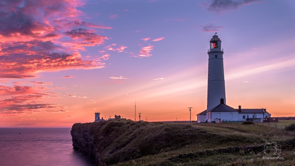 Nash Point Lighthouse - Wales by Parkerspics