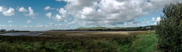 Nevern Estuary Panorama by woodini254