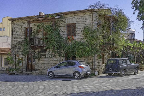 Messa Gitonia old house modern car by jimobee