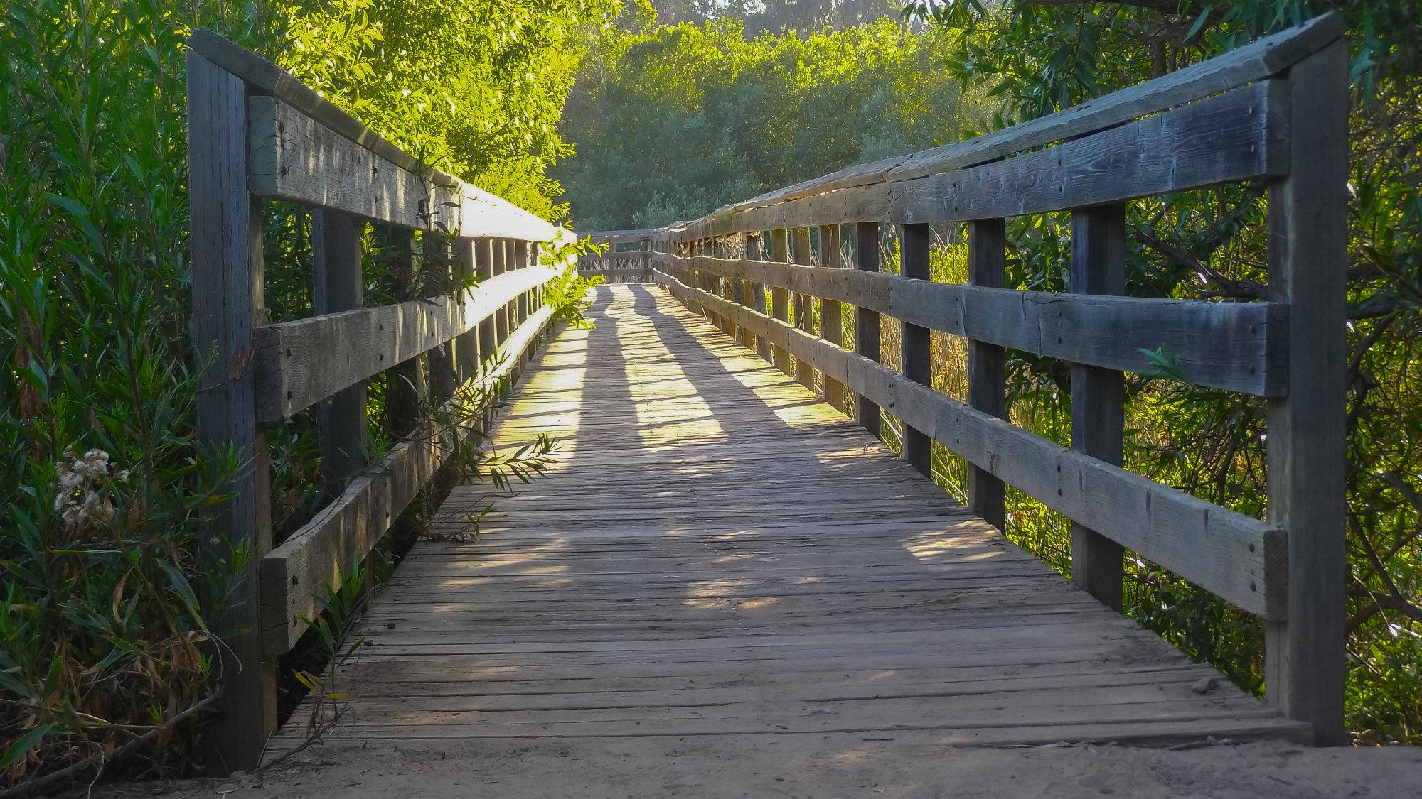 Wooden Bridge at Lake Los Corneros