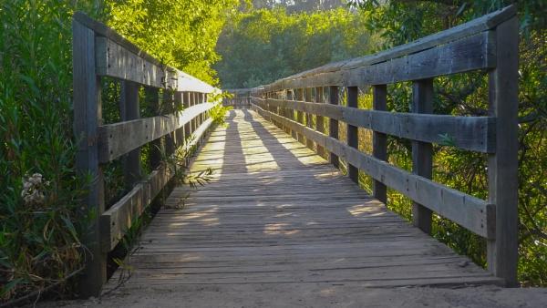 Wooden Bridge at Lake Los Corneros by louneson
