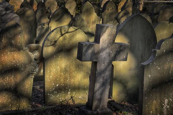 Gravestones Heptonstall by iangilmour