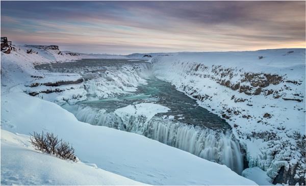 Frozen Gullfoss by Somerled7