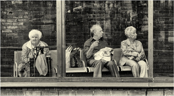 Awaiting the bus. by franken